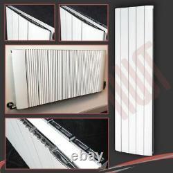 HIGH OUTPUT! Aluminium Designer Cariad White Vertical & Horizontal Radiators