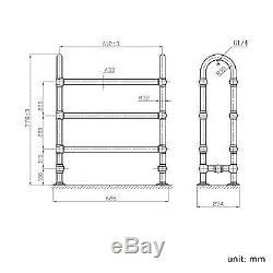 Heated Traditional Chrome Bathroom Central Heating Towel Rail Radiator Rad RT06