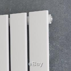 Horizantal Designer Radiator Flat Column Tall Upright White Central Heating UK