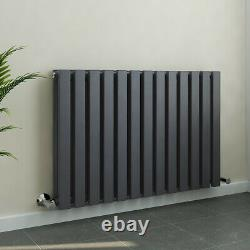 Horizontal Column Designer Radiator Flat Panel Double Grey Anthracite 600x900mm