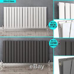 Horizontal Designer Flat Panel Radiators Modern Columns Central Heating UK Rads