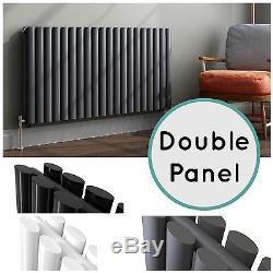 Horizontal Designer Oval Column Double Panel Central Heating Bathroom Radiators