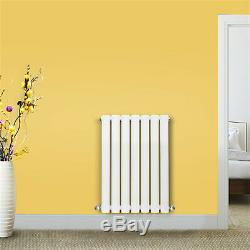 Horizontal Designer Oval Column Radiators Single Panel Central Heating Rad White