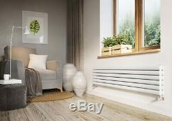 Horizontal Designer Radiator Oval Column Heating Radiators White Grey Anthracite