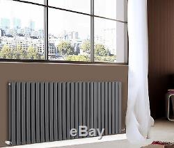 Horizontal Designer Radiator Oval Column Panel Central Heating Anthracite White