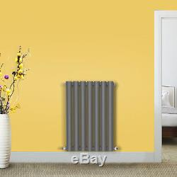 Horizontal Designer Radiator Oval Column Single Panel Central Heating Anthracite