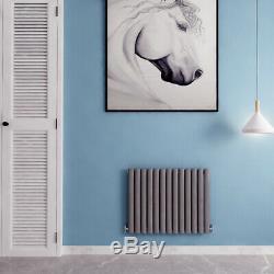 Horizontal Designer Radiator Oval Panel Column Central Heating UK New