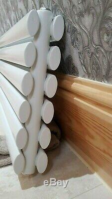 Horizontal Designer Radiators Oval Columns Central Heating 354 x 1780 x 78 Doubl