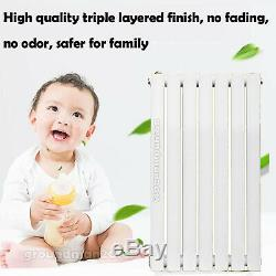 Horizontal Radiator Heated Central Heating Flat Oval Panel Anthracite White Home
