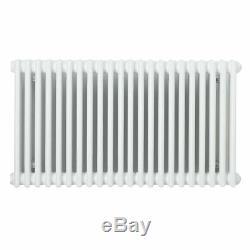 Horizontal Traditional 3 Column 600 x1458 MM Radiator Central Heating white