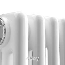 Horizontal Traditional Radiator Vintage Cast Iron Bathroom Central Heating White