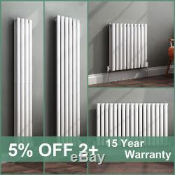 Horizontal Vertical Gloss White Designer Oval Column Radiator Central Heating