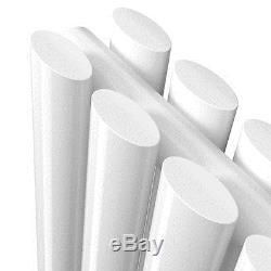 Horizontal Vertical Gloss White Designer Oval Column Radiator Central Heating