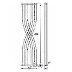 Hudson Reed Radiators Xcite Designer Radiator (Anthracite). 450x1775mm Vertical