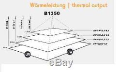 INFRAROTHEIZUNG 1350 Watt, Infrarotstrahler, Deckenstrahler, Dunkelstrahler, HDW