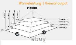 INFRAROTHEIZUNG 3000 W Infrarotstrahler Deckenstrahler HDW Decken-Wandmontage