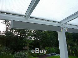 INFRAROTHEIZUNG 600 W, Infrarotstrahler, Dunkelstrahler, Wand-Deckenmontage HDW