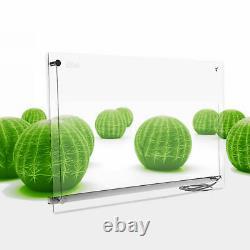 Infrarotheizng 750W Transparente Glasheizung elektrische Wand Heizung Paneel