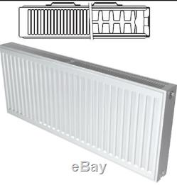 K-RAD Compact Radiator White Type 22 600mm Range Central Heating Twin Pack