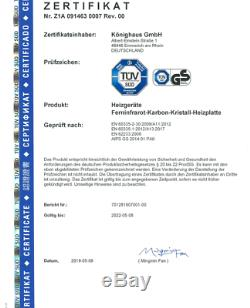 Könighaus Infrarot Heizung P 1000 Watt m. TÜV Deutscher Hersteller -Bestseller