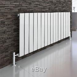LEON White 600x1210 Horizontal Flat Panel Designer Radiator Central Heating