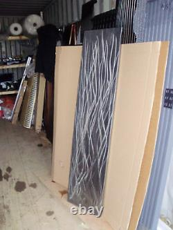 Linished Rush Vertical Designer Radiator 405/1605 vertical