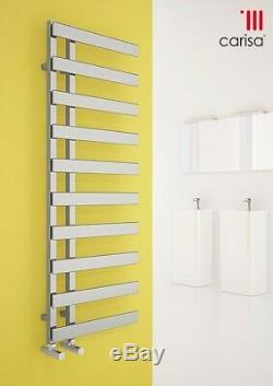 Luxury Designer Chrome Flat Steel Heated Towel Warmer Rail Radiator Carisa