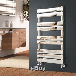 Luxury Designer Flat Panel Heated Bathroom Towel Rail Radiator Warmer Chrome