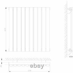 Luxury Modern White Horizontal Designer Oval Column Radiator Rad 635mm x 590mm