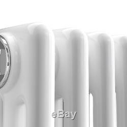 Maine White 1800x287 Vertical Triple Column Designer Radiator Central Heating