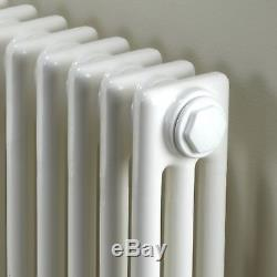 Maine White 300x999 Horizontal Triple Column Designer Radiator Central Heating