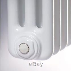 Maine White 600x1177 Horizontal Triple Column Designer Radiator Central Heating