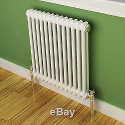 Maine White 600x592 Horizontal Double Column Designer Radiator Central Heating