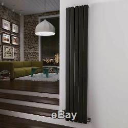 Matte Black Vertical Designer Radiators Central Heating 15 Year Guarantee