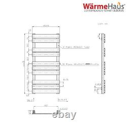Minimalist Bathroom Flat Panel Heated Towel Rail Radiator Rad Chrome 1000x450mm