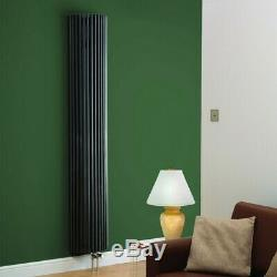 Modern Anthracite Vertical Column Designer Radiator Central Heating Kartell