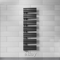 Modern Black Reversible Designer Heated Towel Rails Bathroom Radiators