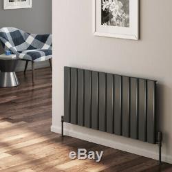 Modern Designer Anthracite Aluminium Horizontal Radiator Central Heating Reina