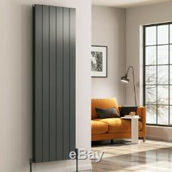 Modern Designer Anthracite Aluminium Vertical Radiator Central Heating Reina