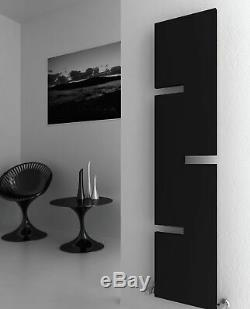 Modern Designer Anthracite Vertical Single Panel Radiator Central Heating Reina