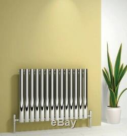 Modern Designer Chrome Polished Horizontal Panel Radiator Central Heating Reina