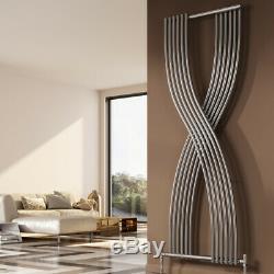Modern Designer Chrome Polished Vertical Panel Radiator Central Heating Reina