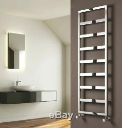 Modern Designer Chrome Straight Square Heated Towel Rail Bathroom Radiator Reina