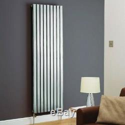 Modern Designer Chrome Vertical Radiator Central Heating Single Double Kartell