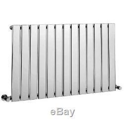 Modern Designer Horizontal Central Heating Radiator 600mm x 984mm Chrome
