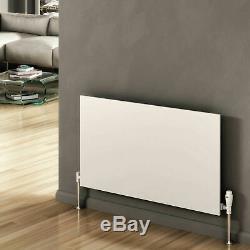 Modern Designer Slimline White Horizontal Panel Radiator Central Heating Reina