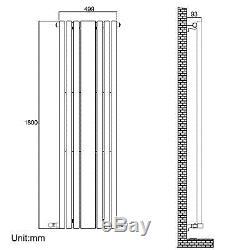 Modern Designer Vertical Oval Column White Central Heating Radiator with Mirror