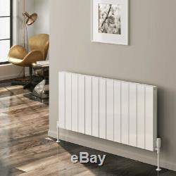 Modern Designer White Aluminium Horizontal Panel Radiator Central Heating Reina