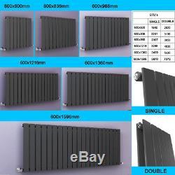 Modern Horizontal Designer Radiator Flat Panel Column Central Heating UK Rads