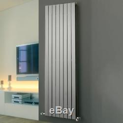Modern Silver Vertical Designer Radiator Double Panel Central Heating Eucotherm